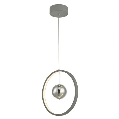 Mercury 1lt Pendant Vertical Grey LED, Double Insulated BXMER0139-17